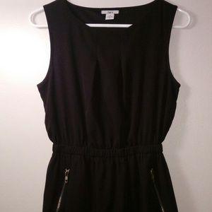 Bar III Black Cinched Waist Dress with Pockets
